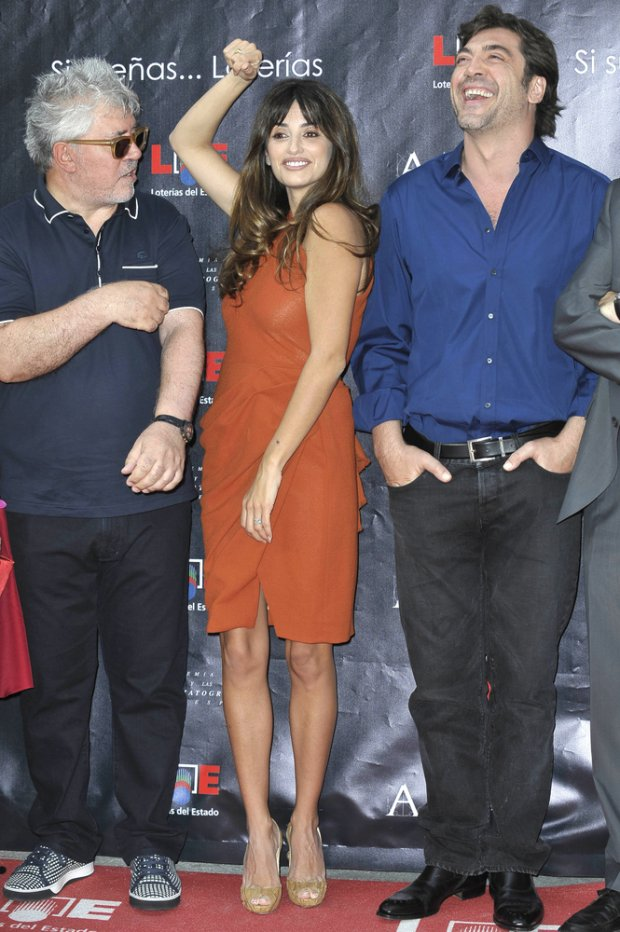 o06/27/2011 - Pedro Almodovar, Penelope Cruz and Javier Bardem - Madrids Walk of Fame Inauguration Photocall - Madrids Walk of Fame - Madrid, Spain - Keywords: **WORLDWIDE SYNDICATION RIGHTS EXCEPT SPAIN - NO SYNDICATION IN SPAIN**   Orientation: Portrait Face Count: 1 - False - Photo Credit: Solarpix / PR Photos - Contact (1-866-551-7827) - Portrait Face Count: 1