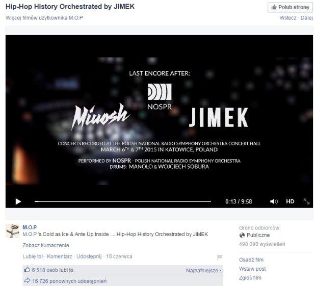Raper M.O.P zamieścił wideo z koncertu Dębskiego na swoim Facebooku