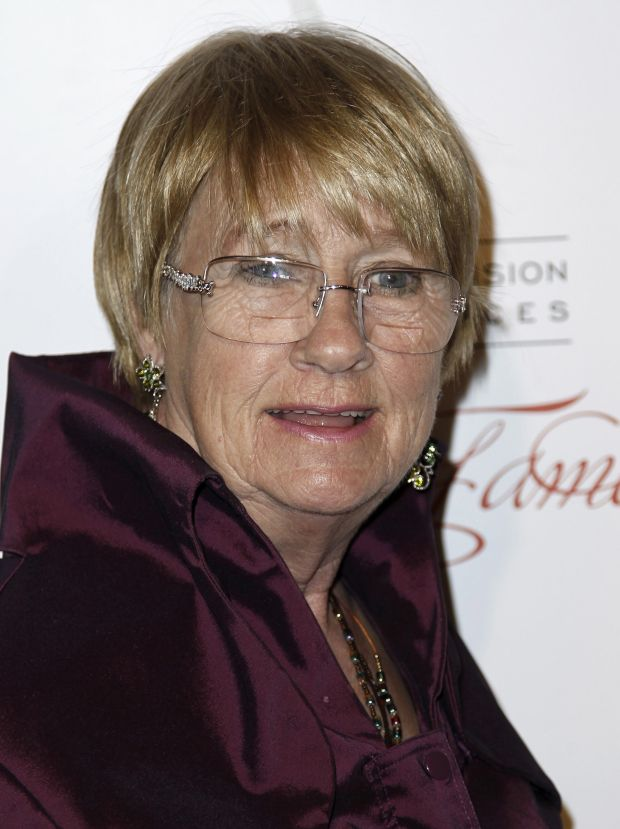 In this March 1, 2012 photo, Kathryn Joosten arrives at the Academy of Television Arts and Sciences 21st Annual Hall of Fame Gala in Beverly Hills, Calif. Joosten, a veteran character actress who played the crotchety, nosey Karen McCluskey on ABC's