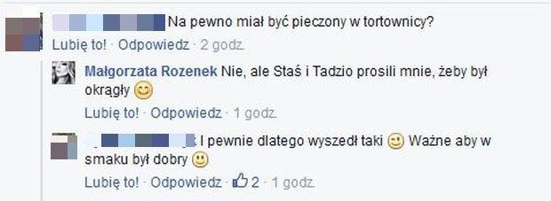 Komentarze na profilu Małgorzaty Rozenek