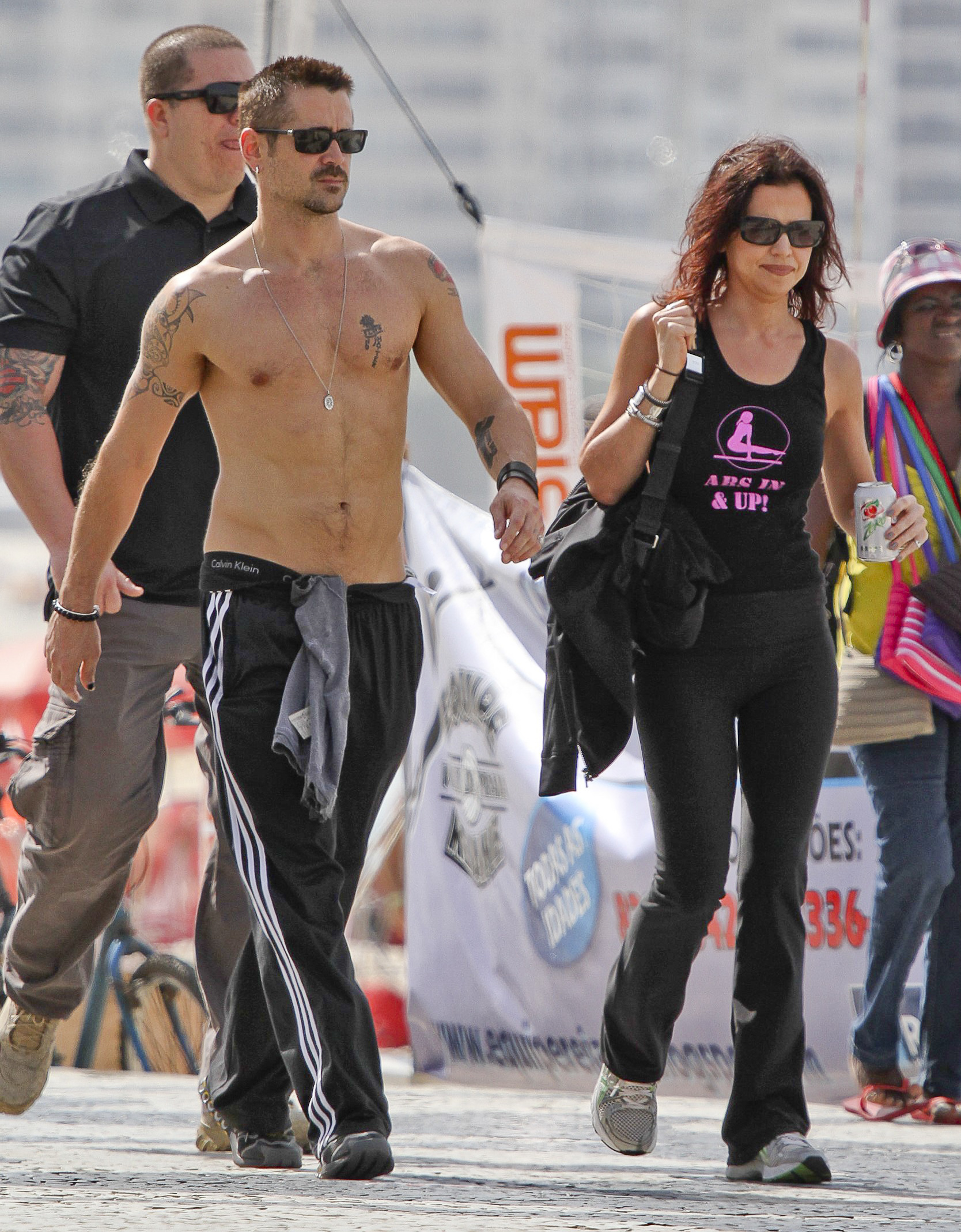*EXCLUSIVE* Rio de Janeiro, Brazil - Actor Colin Farrell seems very comfortable walking the streets of Ipanema with his sister.    AKM-GSI          July 11, 2012    To License These Photos, Please Contact :    Steve Ginsburg  (310) 505-8447  (323) 4239397  steve@ginsburgspalyinc.com  sales@ginsburgspalyinc.com    or    Keith Stockwell  (310) 261-8649  (323) 325-8055   keith@ginsburgspalyinc.com  ginsburgspalyinc@gmail.com *** Local Caption ***  Colin Farrell