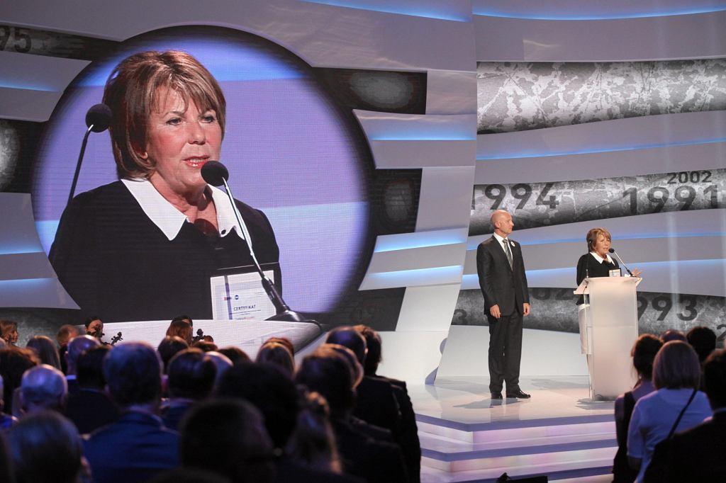 Solange Olszewska podczas Gali 'Ludzie Wolności'' organizowanej przez Gazetę Wyborcza i TVN (fot. Sławomir Kamiński / Agencja Gazeta)