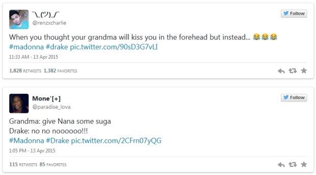 Reakcje na pocałunek Madonny z Drakiem