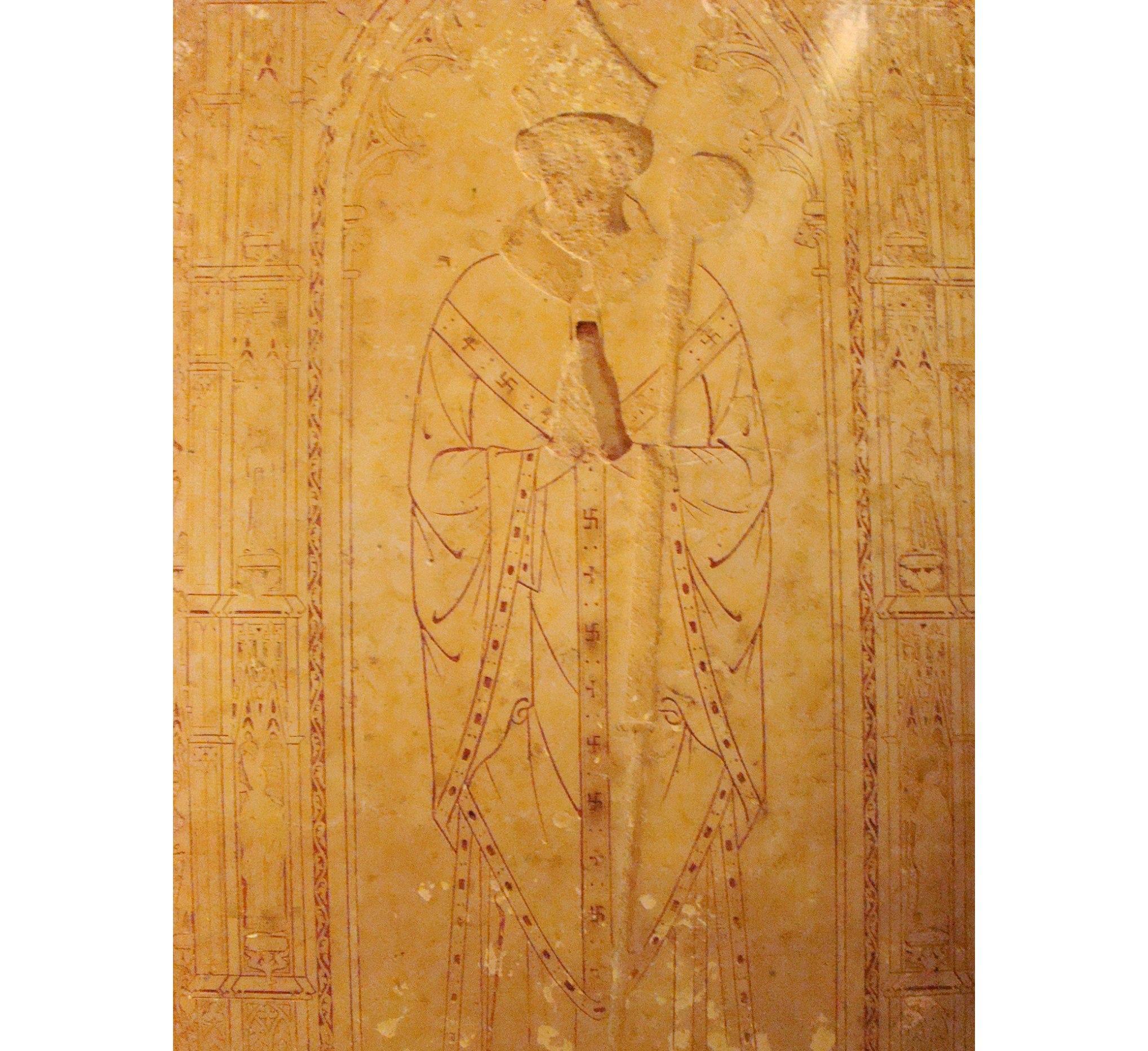 Nagrobek abota Simone'a De Gillans, benedyktyna zmarłego w 1345 r. Znajduje się w Muzeum Cluny w Paryżu(fot. Aaron Welman)