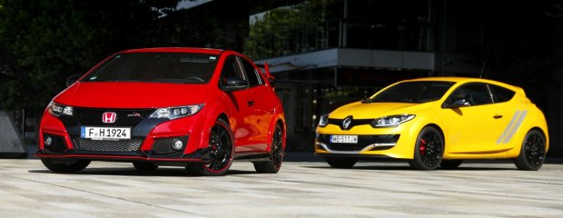 Honda Civic Type R vs. Renault Megane R.S. Trophy