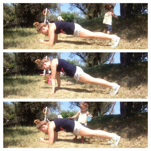 Plank - wygląda niewinnie, ale w gruncie rzeczy to bardzo ciężkie ćwiczenie (fot. Sandra Mikulska arch. prywatne)