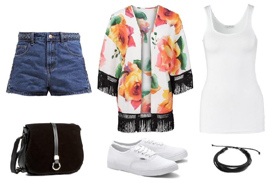 Kimono w stylizacjach na lato