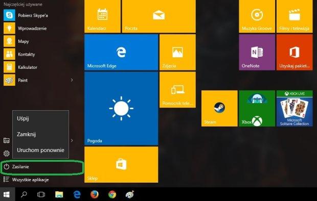 Wyłączenie Windows 10