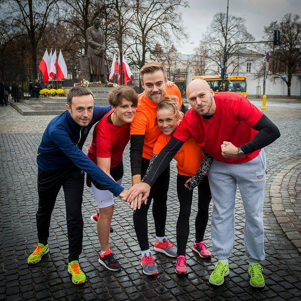 Marcin Dulnik (z lewej) i członkowie pierwszej edycji Ekipy EkstRemalnej