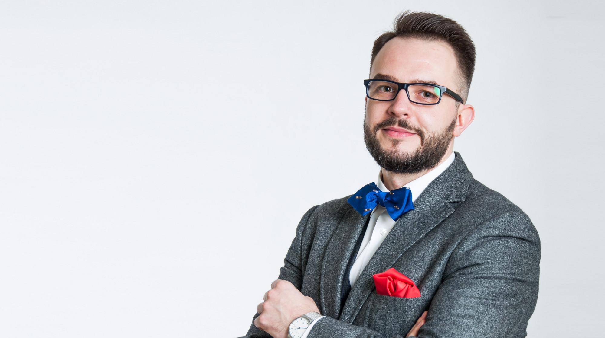 Michał Pozdał (fot. Centrum Prasowe SWPS)