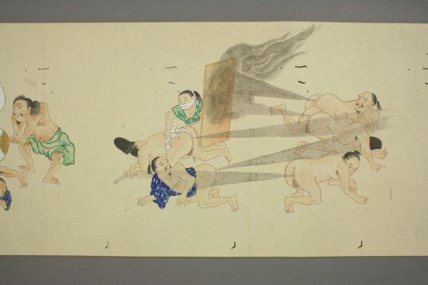 Sztuka pierdzenia, japońska walka na bąki