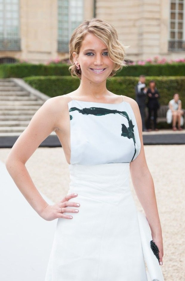 Jennifer Lawrence attends the Christian Dior show as part of Paris Fashion Week - Haute Couture Fall/Winter 2014-2015. Paris, France - 07/07/2014/COLLET_0713.18