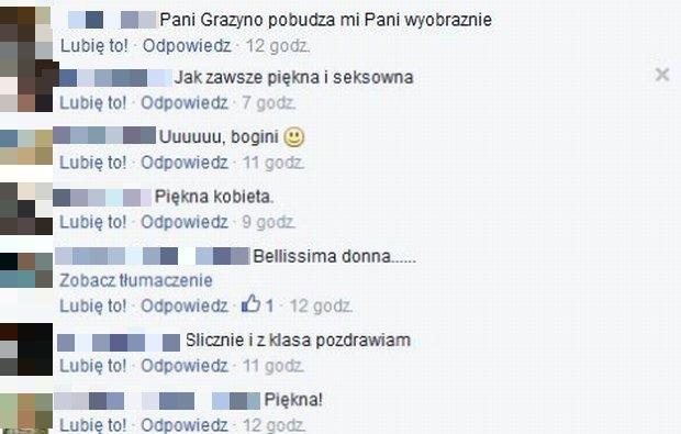 Wpisy na profilu Grażyny Szapołowskiej