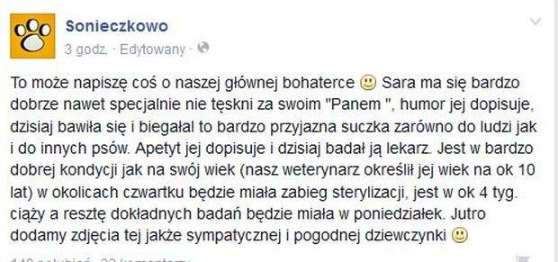 Wpis na profilu Sonieczkowo