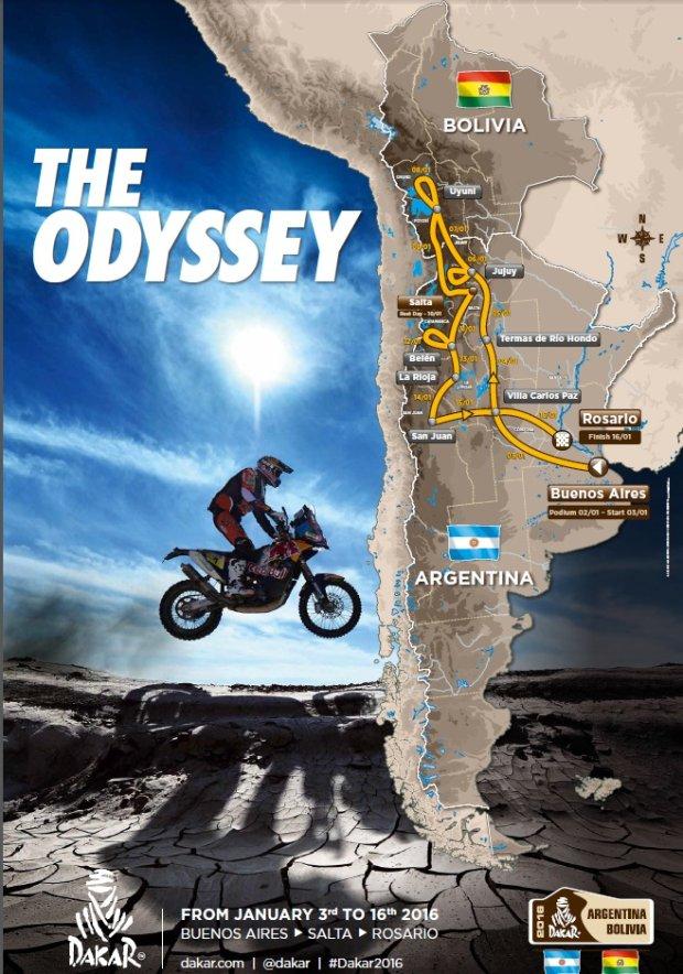 Trasa Rajdu Dakar 2016