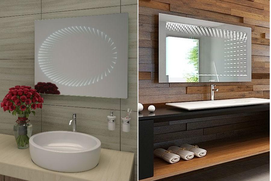 Nowoczesne rozwiązania - lustro 3D z oświetleniem LED