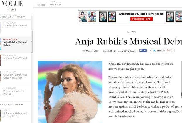 Screen z Vogue.co.uk