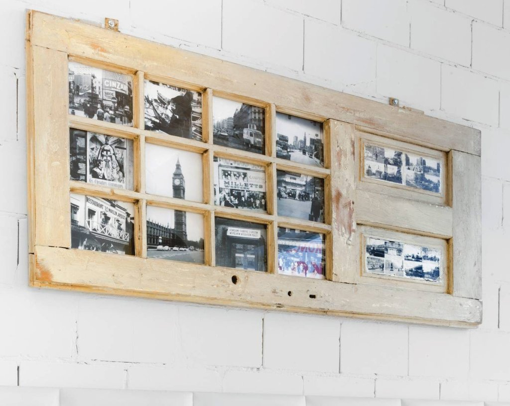 Ramka na zdjęcia ze starych drzwi - oryginalna dekoracja ścian