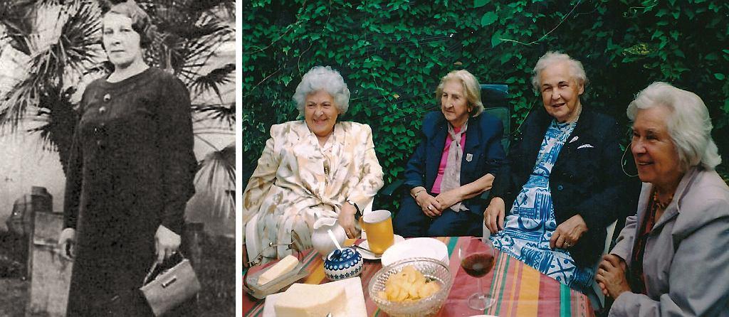 Po lewej: Maria Banaszak, mama Wiry; po prawej: spotkanie przyjaciółek po 60 latach. Od lewej: Wira, Hania, Celina i Stefa (fot. archiwum prywatne autora)