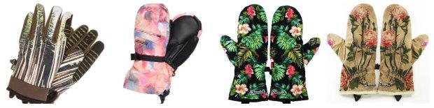 Motywy roślinne na rękawiczkach