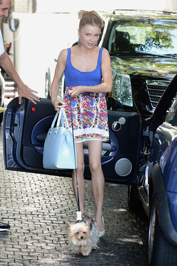 Izabella Miko arrives at Chateau Marmont with her dog. <P> Pictured: Izabella Miko <P><B>Ref: SPL593293  120813  </B><BR/> Picture by: All Access Photo / Splash News<BR/> </P><P> <B>Splash News and Pictures</B><BR/> Los Angeles: 310-821-2666<BR/> New York: 212-619-2666<BR/> London: 870-934-2666<BR/> photodesk@splashnews.com<BR/> </P>