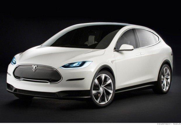 Tesla X 2015   SUV ze skrzydłami