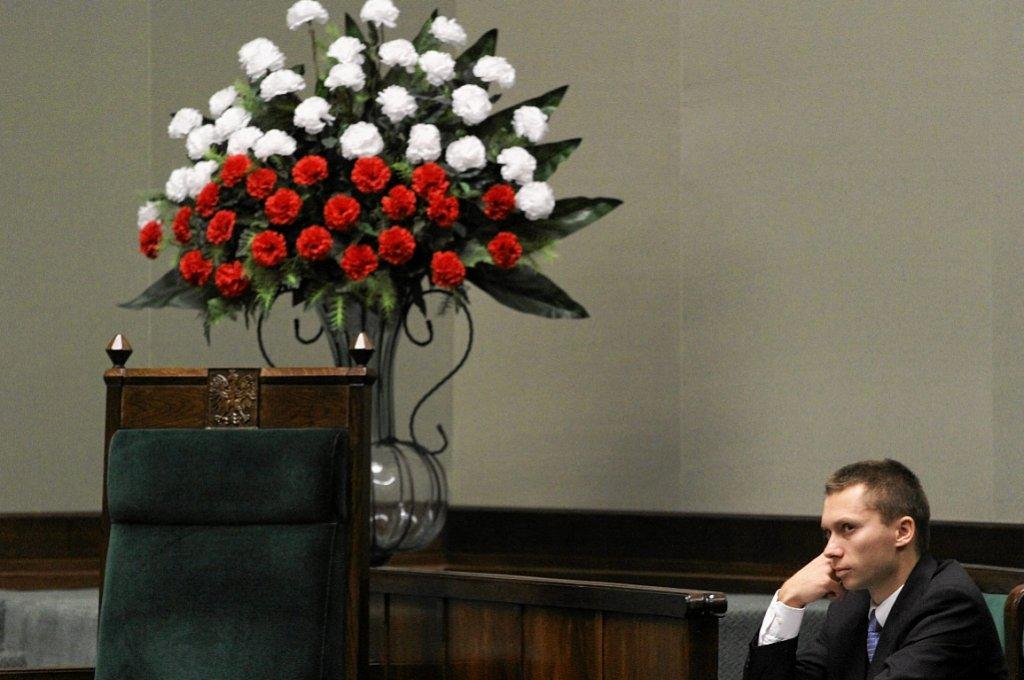 Tomasz Elbanowski w Sejmie (fot. Sławomir Kamiński/AG)