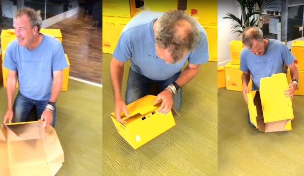 Jeremy Clarkson i pudełko