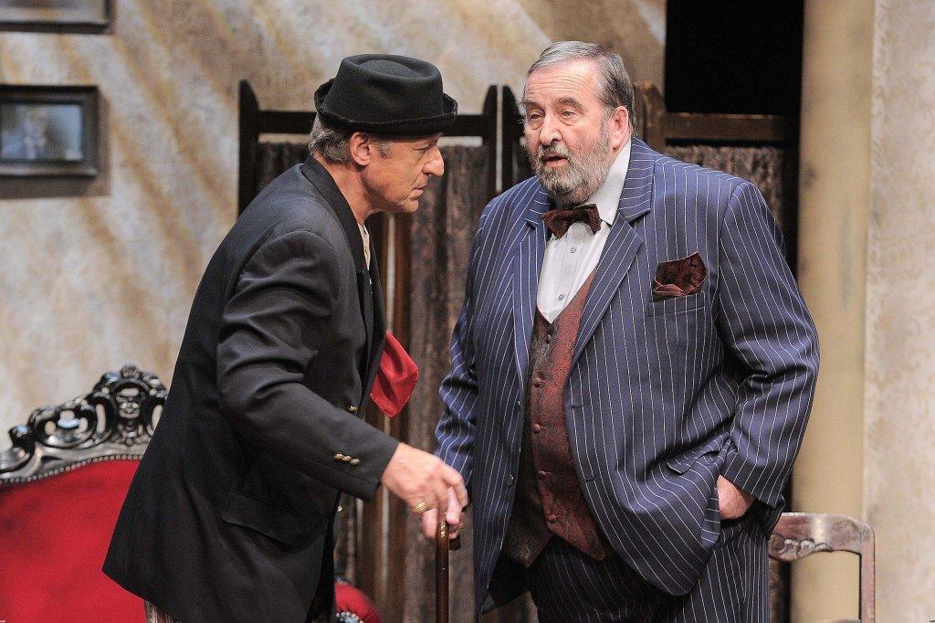 Z Piotrem Fronczewskim podczas próby w Teatrze 6.piętro (fot. KAPIF.PL)
