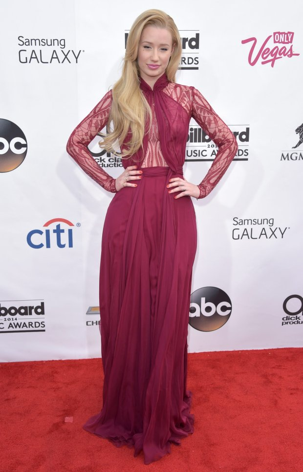 Iggy Azalea arrives at the Billboard Music Awards at the MGM Grand Garden Arena on Sunday, May 18, 2014, in Las Vegas. (Photo by John Shearer/Invision/AP)