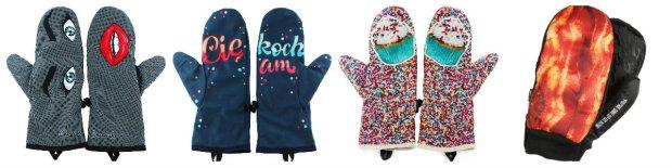 Zabawne rękawiczki - abstrakcyjne motywy