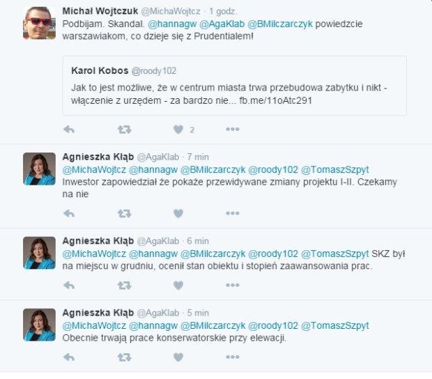 Dyskusja na temat remontu Prudentalu.