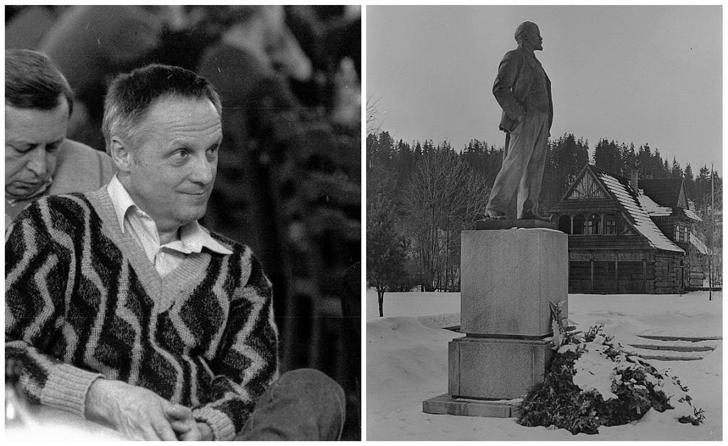 Stefan Niesiołowski i pomnik Lenina w Poroninie (fot. Waldemar Gorlewski/AG/Deutsche Fotothek/CC BY-SA 3.0 de/Wikimedia Commons)