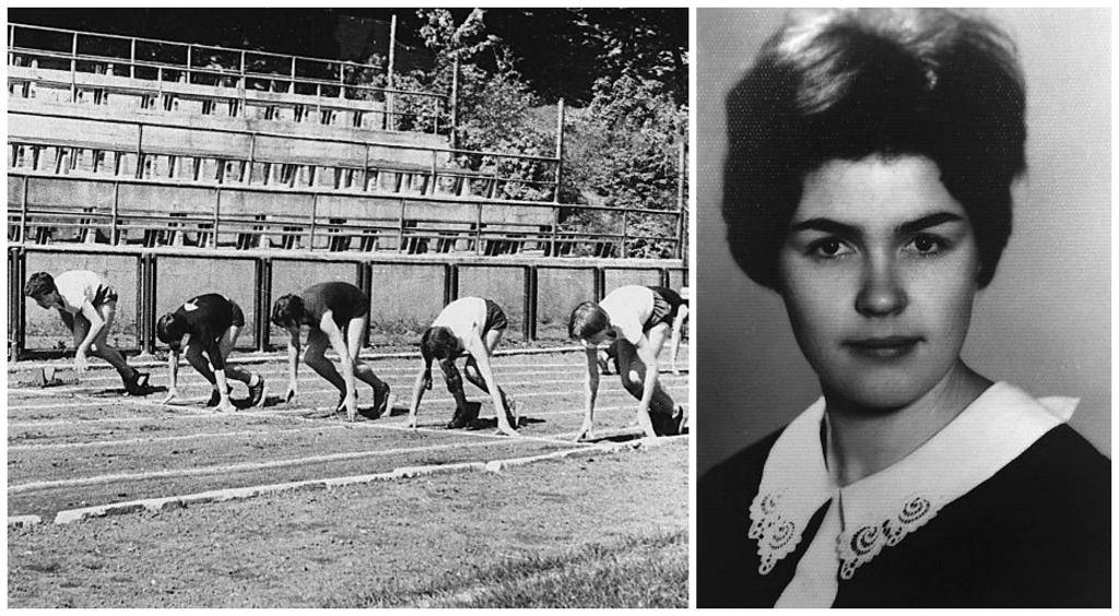 Po lewej: W liceum Wanda trenowała lekkoatletykę, lata pięćdziesiąte XX w. Po prawej Wanda jako dwudziestolatka (fot. Zbigniew Błaszkiewicz / archiwum Eugeniji Murauskiené)