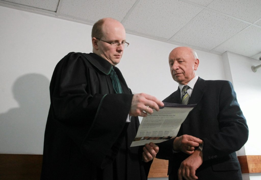 mec. Jerzy Kwaśniewski i prof. Bogdan Chazan (fot. Przemek Wierzchowski/AG)