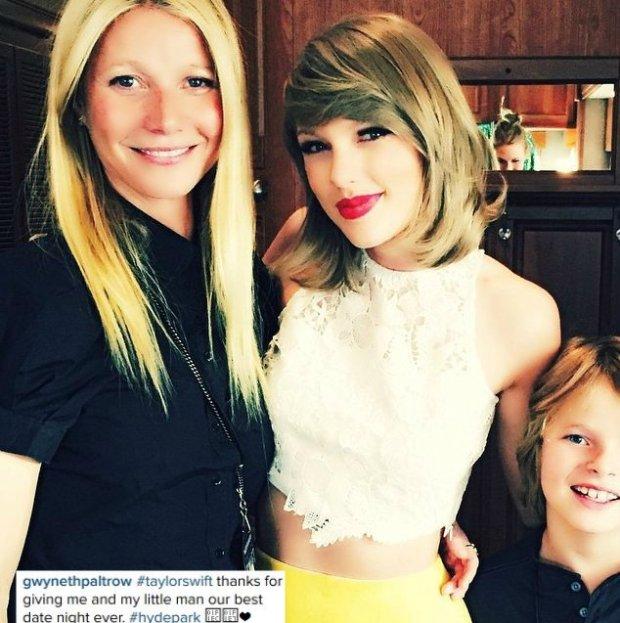 Gwyneth Paltrow, Taylor Swift i Moses Martin