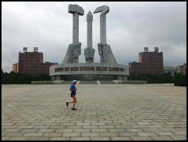 Biegać można wszędzie, nawet podczas krótkiej zawodowej wizyty w Korei Północnej