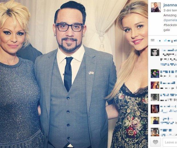 Pamela Anderson, Kevin Richardson i Joanna Krupa