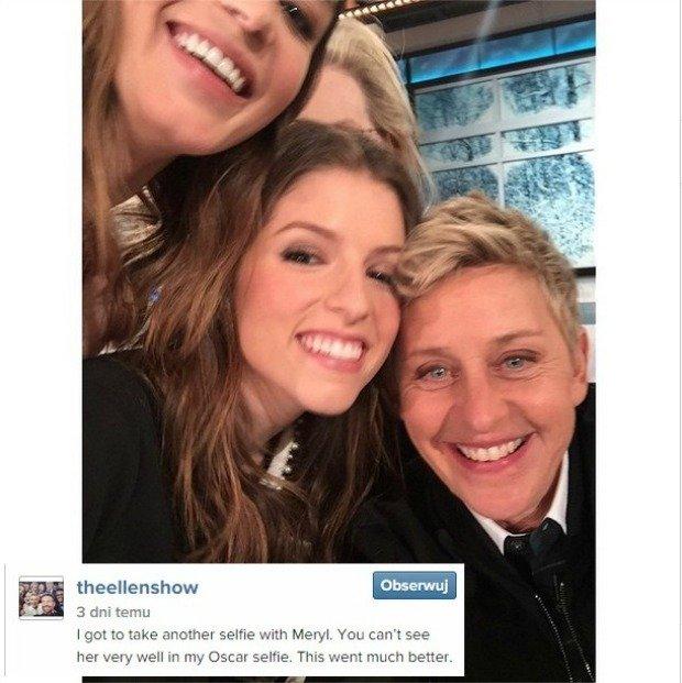 Selfie gwiazd w programie Ellen DeGeneres