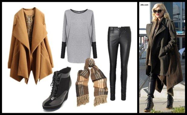 Stylizacja 3.: botki Nessi, bluzka Lilko, płaszcz Polyvore , spodnie Vero Moda