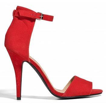 czerwień, buty, obuwie