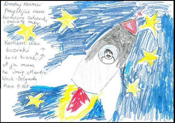 Jeden z listów wysłanych w kosmos w misji Fokus One