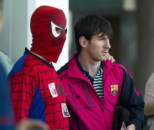 Messi i Spiderman
